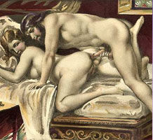Erotic art featuring anal sex