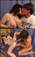 Kissing and vibrator double penetration